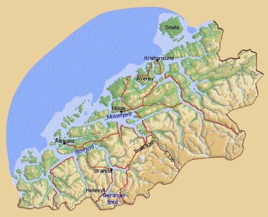 map norway more og romsdal kristiansund.